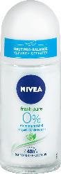 NIVEA Deo Roll On Deodorant fresh pure