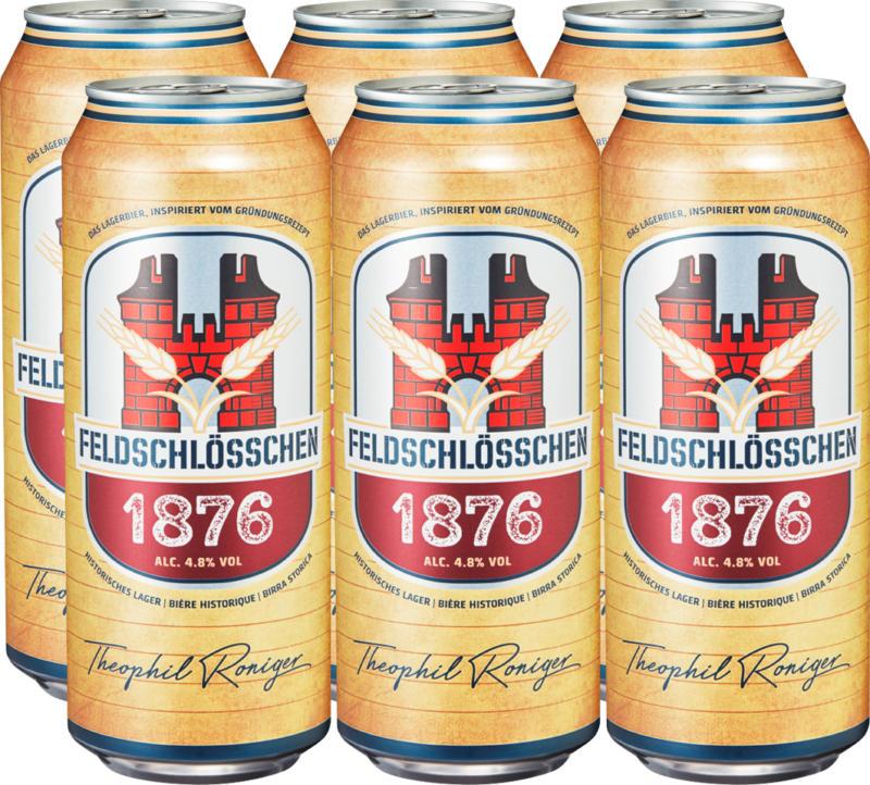 Feldschlösschen Bier 1876, 6 x 50 cl