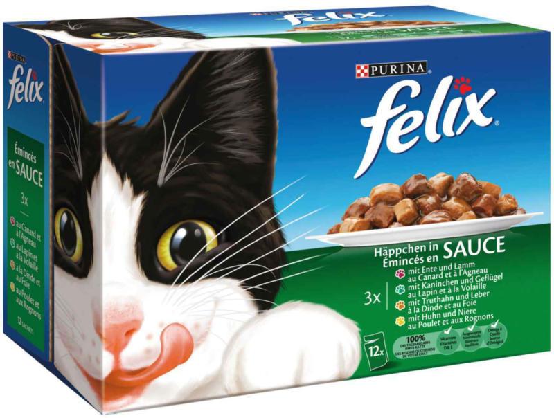 Felix Émincés de viande et de volaille en gelée 12 x 100 g  -