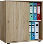 """HELLWEG Baumarkt Büroschrank """"Lona L"""", mit Schiebetüren, Sonoma-Eiche"""