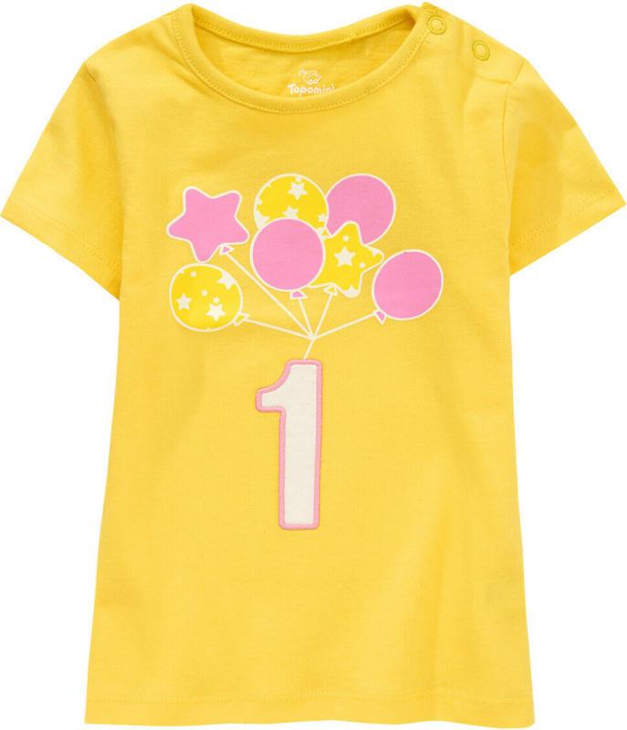 Baby T-Shirt mit Geburtstagszahl (Nur online)