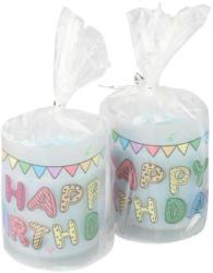 2 Geburtstagskerzen im Glas (Nur online)