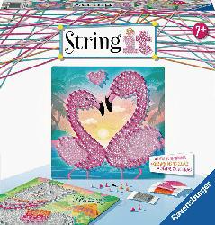 RAVENSBURGER String it Midi Lama & Flamingo Spielset, Mehrfarbig