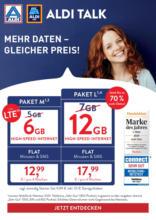 ALDI Talk - Mehr Daten - Gleicher Preis!