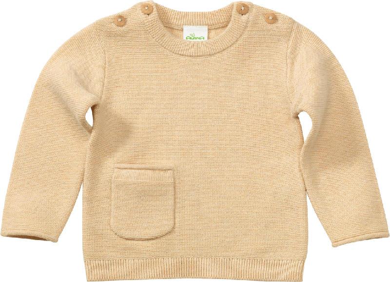 ALANA Baby Pullover, Gr. 74, in Bio-Baumwolle und Wolle, gelb