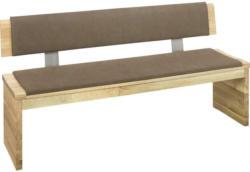 Sitzbank 180/85/54 cm in Braun, Eichefarben