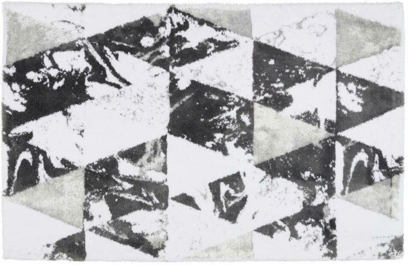 Badematte 70/120 cm Anthrazit, Silberfarben