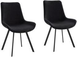 Stuhl-Set in Metall, Textil Schwarz