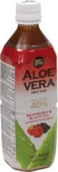 Aloe Vera Nektar mit Schwarzem Tee und Himbeere, weniger süss
