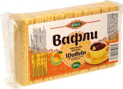 Waffeln mit 71% Cremefüllung mit Orangen-Vanille-Geschmack