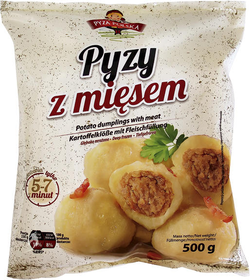 Kartoffelklöße mit 20% Fleischfüllung