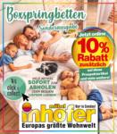 Möbel Inhofer Möbel Inhofer - Boxspringbetten Sonderausgabe - bis 14.02.2021