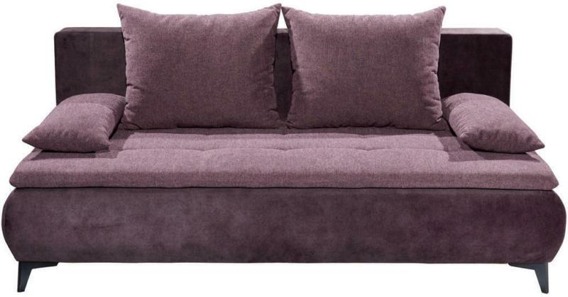 Schlafsofa in Textil Aubergine