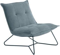 Sessel in Metall, Textil Blau