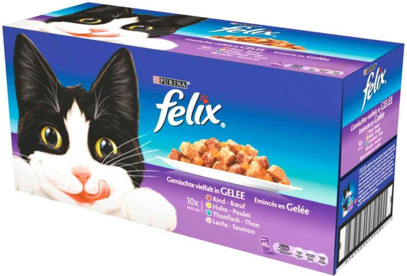 Cibo per gatti assortito in gelatina 40 x 100 g -