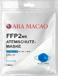 ARA MACAO FFP2 Atemschutzmaske für Erwachsene, Einweg