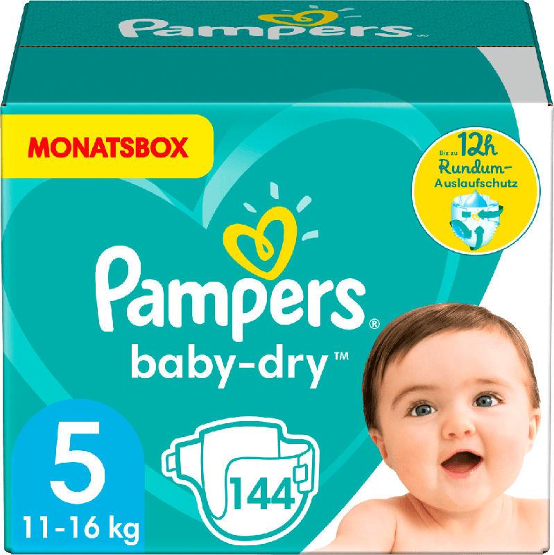Pampers Windeln Baby-Dry Größe 5 Junior, 11-16 kg,  MonatsBox
