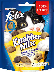 Felix Snack für Katzen, KnabberMix Dreikäsehoch