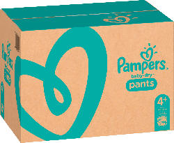 Pampers Pants Baby Dry, Größe 4+, Maxi Plus, 9-15kg, Monatspack