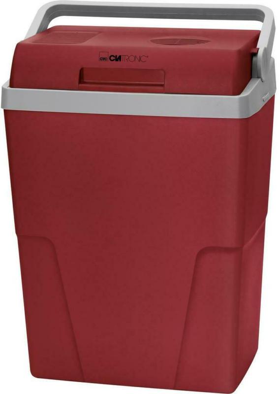 Kühlbox 25 Liter mit Tragegriff, Rot/Hellgrau