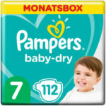 OTTO'S Pampers Baby Dry t. 7 extra large 15 kg conf. mensile 112 pezzi -