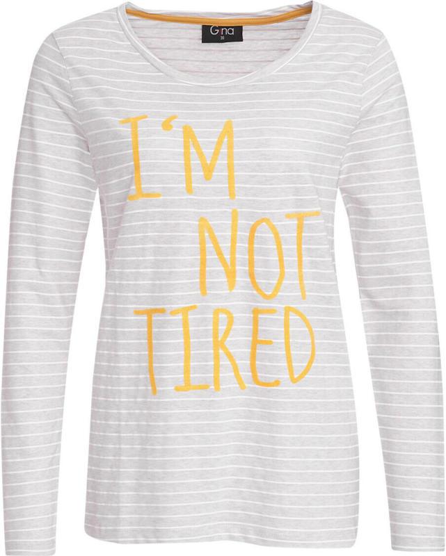 Damen Langarmshirt mit Schriftzug (Nur online)