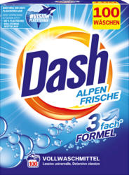 Detersivo in polvere Freschezza alpina Dash, 100 cicli di lavaggio, 6,5 kg