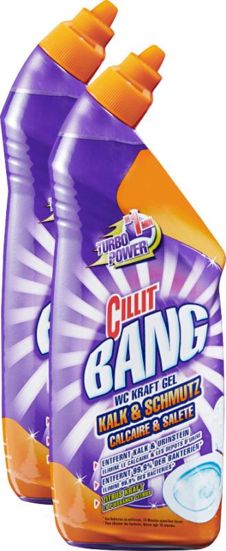 Gel detergente WC Cillit Bang, Calcare & Sporco, 2 x 750 ml