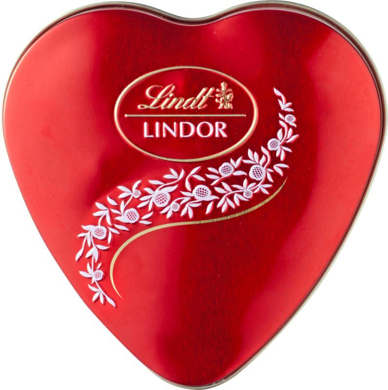 Lindt Lindor Kugeln Milch, Herz, 62 g