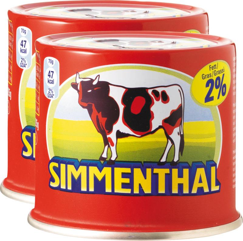 Viande de bœuf Simmenthal, en gelée, 2 x 215 g