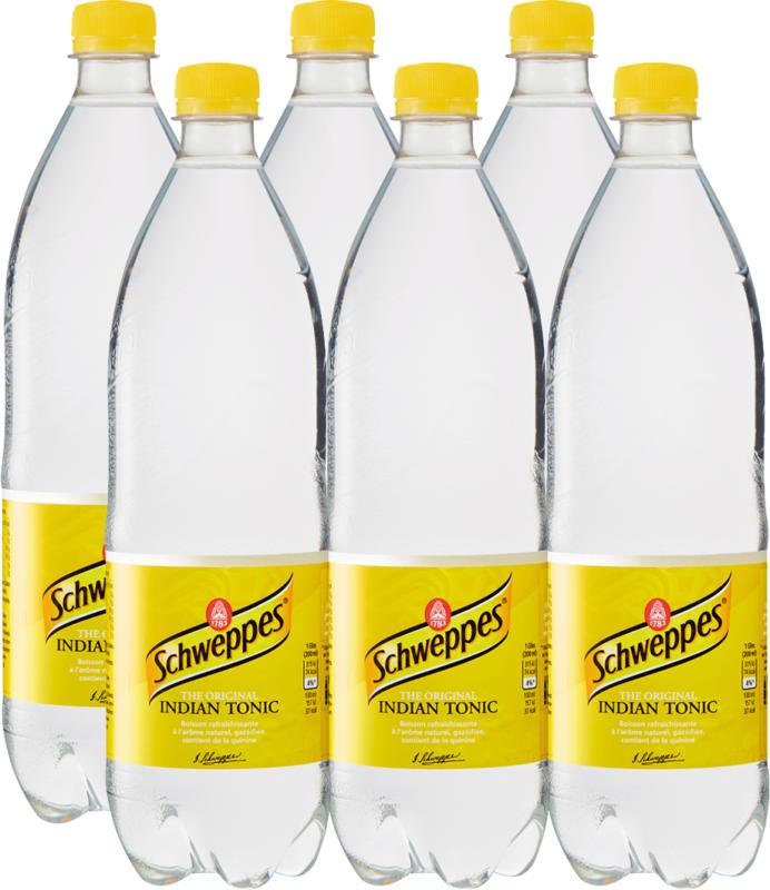 Schweppes Indian Tonic, 6 x 1 litro