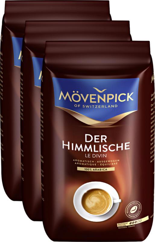 Café Le Divin Mövenpick, en grains, 3 x 500 g