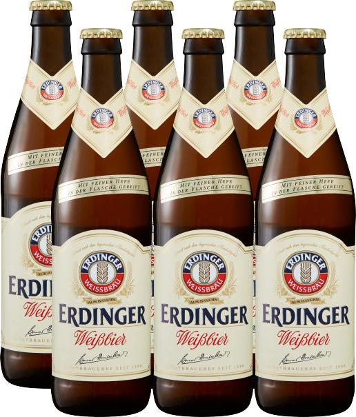 Birra di frumento Erdinger, 6 x 50 cl