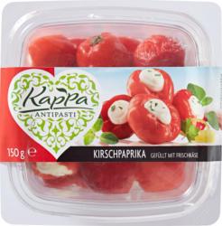 Peperoni ciliegia ripieni di formaggio fresco Kappa, 150 g