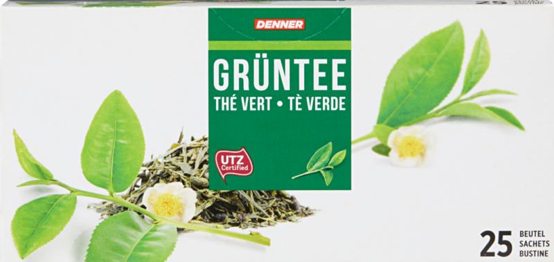 Tè verde Denner , 25 bustine