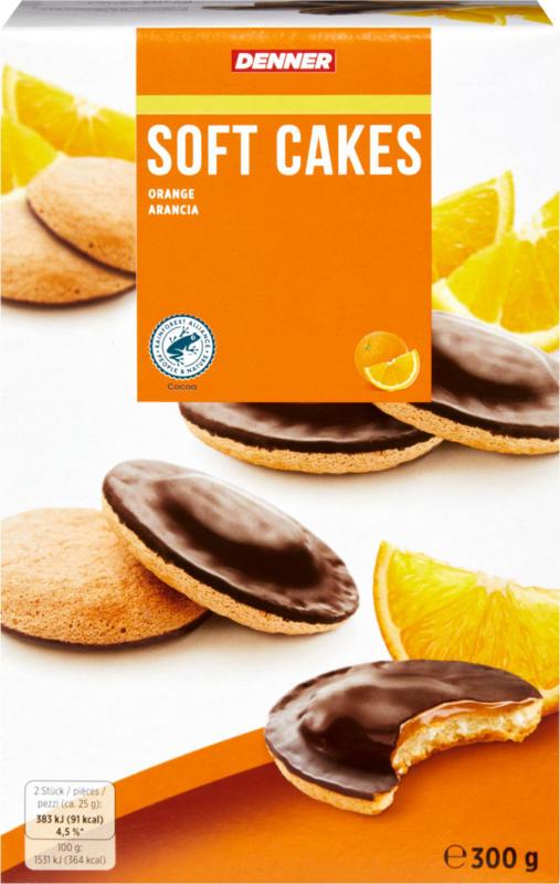 Denner Soft Cakes Orange, 300 g