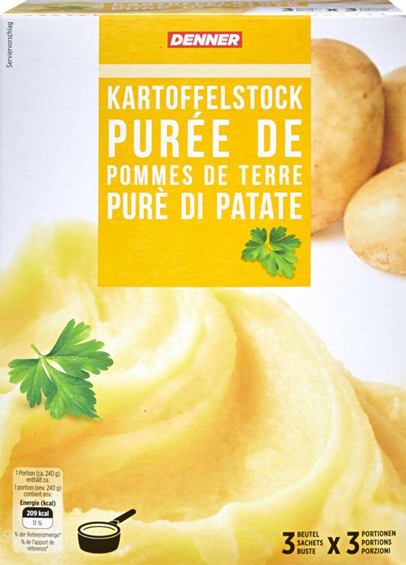 Purè di patate Denner, 3 bustine, 330 g