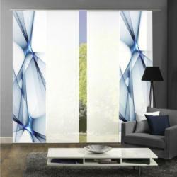 Vorhang mit Paneelwagen Franklin B: 240cm, Blau