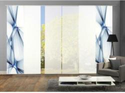 Vorhang mit Paneelwagen Franklin B: 360cm, Blau