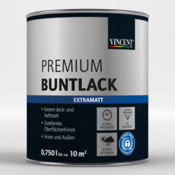 "Premium Buntlack ""Platingrau"", Matt, 0,75 L 0,75 L | Matt"