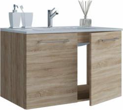 Waschplatz, 60 cm, 2-teilig, 2 Türen, Sonoma-Eiche beige, braun