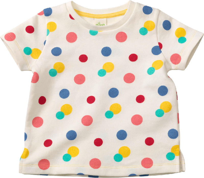 ALANA Kinder Shirt, Gr. 104, in Bio-Baumwolle, weiß, bunt