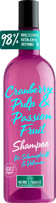 Nature's Paradise Shampoo Schwungkraft und Volumen CRANBERRY & PASSION FRUIT