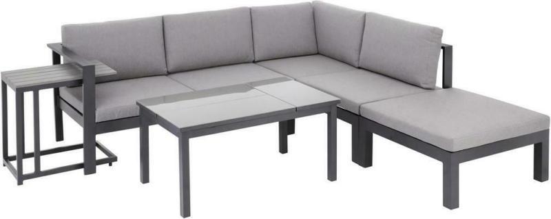 Loungegarnitur 5-Tlg Panama Aus Alu und Textil mit Kissen