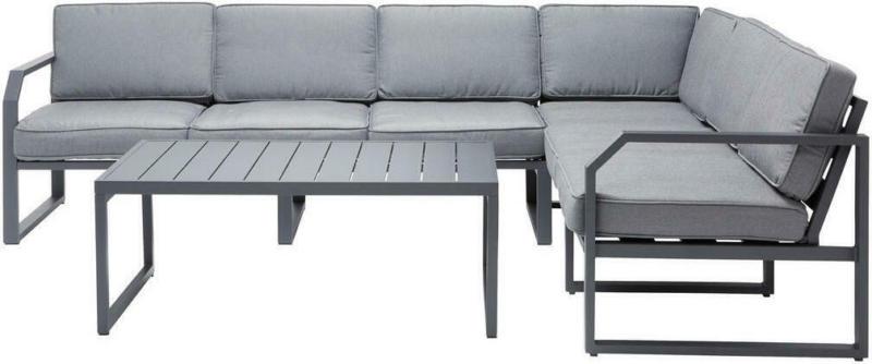 Loungegarnitur 16-teilig 266,5/207 cm
