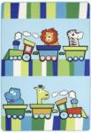 Möbelix Kinderteppich Tiermotive Blau / Bunt Lionel 100x150 cm