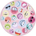 Möbelix Kinderteppich Rund Smiley Rosa/Bunt Miley Ø 80 cm