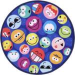 Möbelix Kinderteppich Rund Smiley Blau/Bunt Miley Ø 80 cm