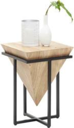 Beistelltisch in Holz, Metall 31/31/45 cm