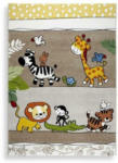 Möbelix Kinderteppich Tiermotive Braun / Bunt Louie 120x170 cm